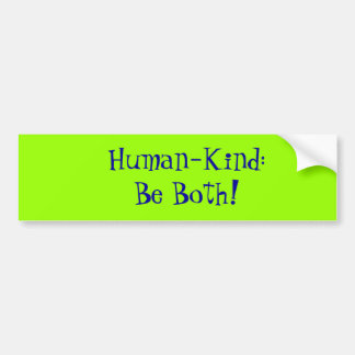 Human-Kind Bumper Sticker