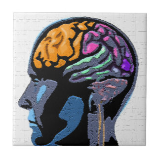 Human Mind Street Art Ceramic Tiles