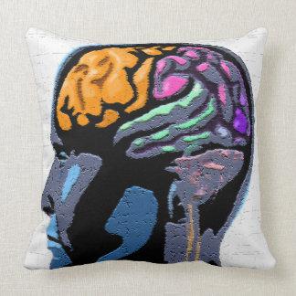 Human Mind Street Art Throw Pillow