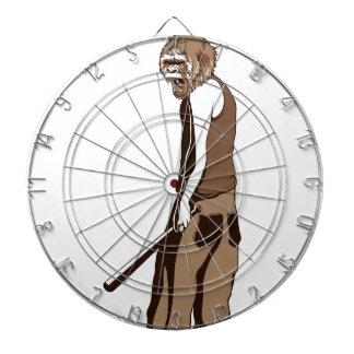 human monkey with stick dartboard