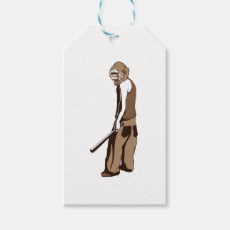 human monkey with stick gift tags