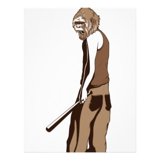 human monkey with stick letterhead