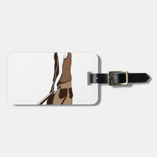 human monkey with stick luggage tag