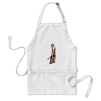 human monkey with stick standard apron