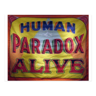 Human Paradox Alive Postcard