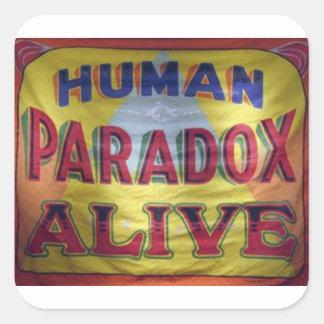 Human Paradox Alive Square Sticker