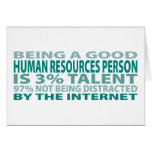 Human Resources Person 3% Talent Greeting Card
