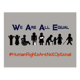 Human Rights Equality Disability Protest Postcard