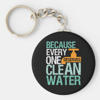 Human Rights Everyone Deserve Clean Water Activist Keychain