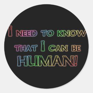 Human Round Sticker