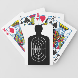Human Shape Target Bicycle Playing Cards