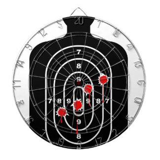 Human Shape Target With Bullet Holes Dartboard