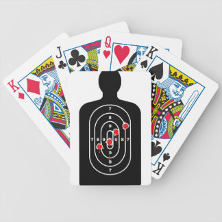 Human Shape Target With Bullet Holes Poker Deck