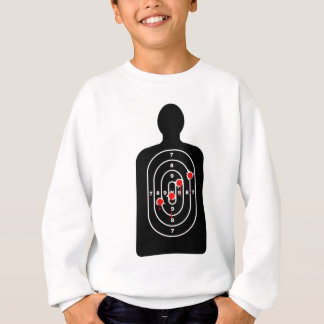 Human Shape Target With Bullet Holes Sweatshirt