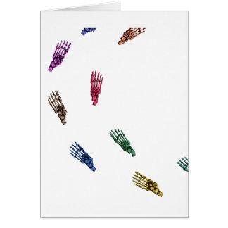 Human skeletal foot prints - muliSolidColor Card