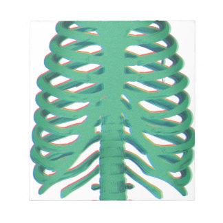 Human Skeleton Ribs Notepads