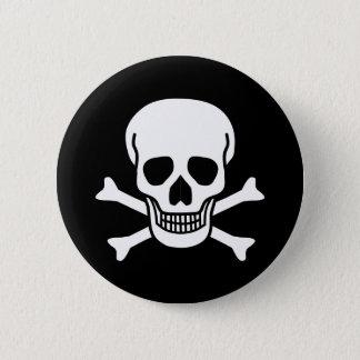 Human Skull 2 Inch Round Button