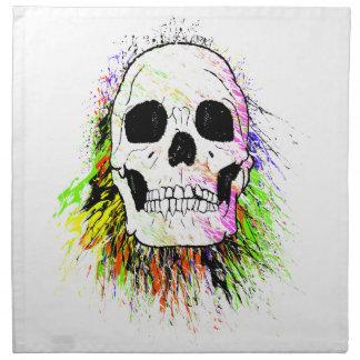 Human Skull Colorful Halloween Napkin