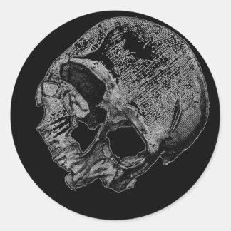 Human Skull Vintage Illustration Classic Round Sticker