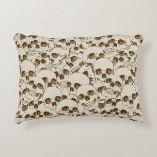 Human skulls background accent pillow