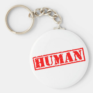 Human Stamp Basic Round Button Keychain