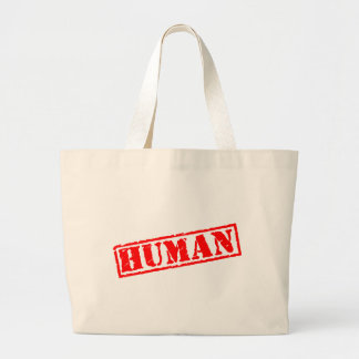 Human Stamp Large Tote Bag