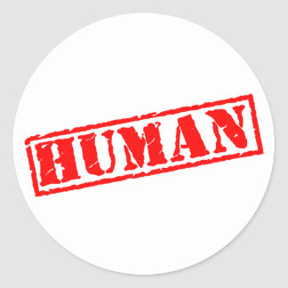 Human Stamp Round Sticker