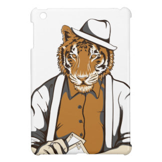 human tiger with playing cards cover for the iPad mini