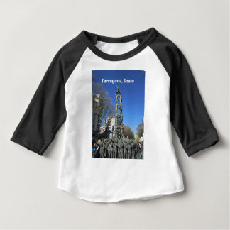 Human tower statue, Spain Baby T-Shirt