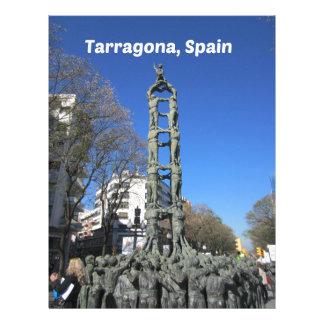 Human tower statue, Spain Letterhead