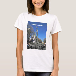 Human tower statue, Spain T-Shirt