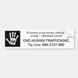 Human Trafficking Tip Line Bumper Sticker