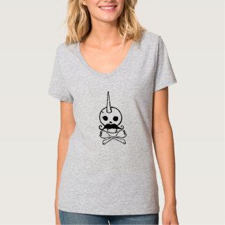 Human/Unicorn Skull T-Shirt