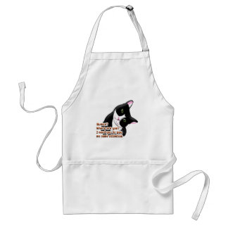Human? Where are you? Cat Standard Apron