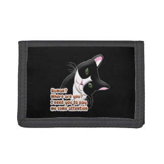 Human? Where are you? Cat Tri-fold Wallet