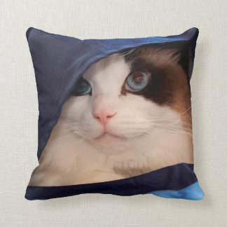 Humane Society cat 2 Throw Pillow