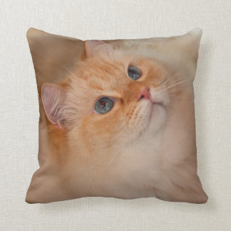 Humane Society cat Throw Pillow