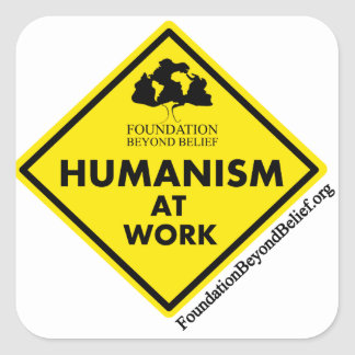 Humanism at Work Square Sticker
