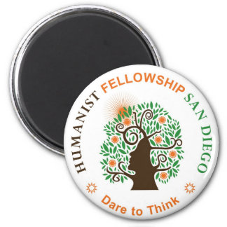 Humanist Fellowship of San Diego Logo 2 Inch Round Magnet