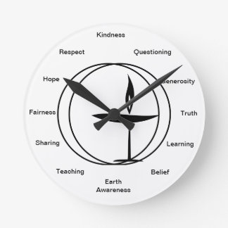 Humanitarian Wall Clock