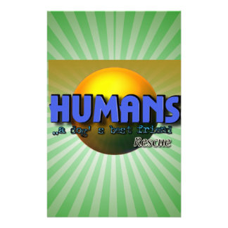 Humans - A DOG'S BEST FRIEND! RESCUE Personalized Stationery