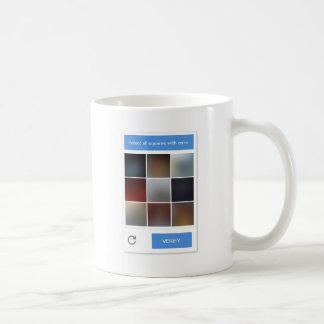 Humans Not Invited CAPTCHA mug, light version Coffee Mug