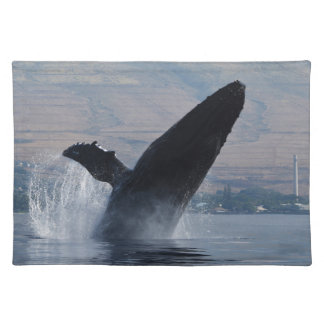 humback whale breaching placemat