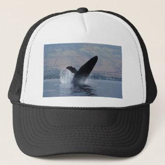 humback whale breaching trucker hat