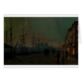 Humber dockside, Hull by John Atkinson Grimshaw Card