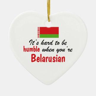 Humble Belarusian Ceramic Heart Ornament
