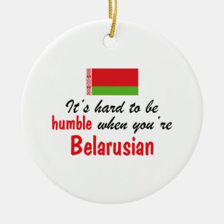 Humble Belarusian Round Ceramic Ornament