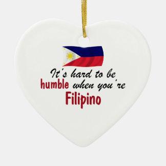 Humble Filipino Ceramic Heart Ornament