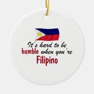 Humble Filipino Round Ceramic Ornament