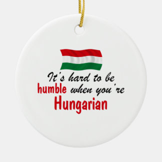 Humble Hungarian Round Ceramic Ornament